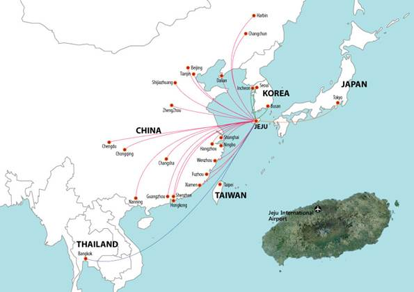 Asian south pacific map of major airports
